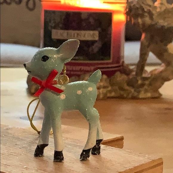 Baby Reindeer Christmas Holiday Wood Christmas Tree Holiday Ornament